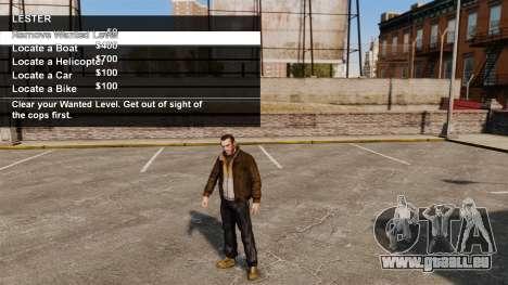 Sonderdienste Merryweather und Lester für GTA 4 weiter Screenshot