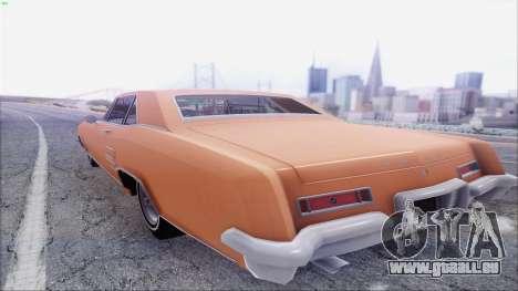 Buick Riviera 1963 pour GTA San Andreas sur la vue arrière gauche