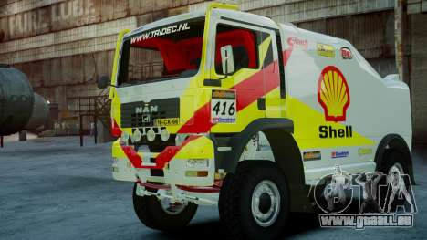 MAN TGA Dakar Truck Shell pour GTA 4 est une gauche