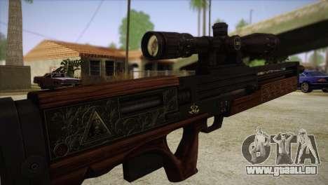 Walther WA2000 pour GTA San Andreas troisième écran