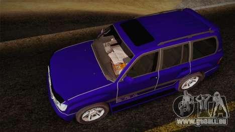 Toyota Land Cruiser 100VX pour GTA San Andreas vue arrière