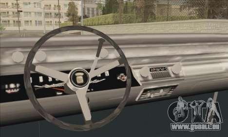 Cadillac Deville Lowrider 1967 pour GTA San Andreas sur la vue arrière gauche