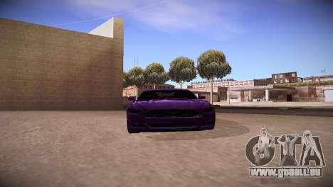 Ford Mustang GT 2015 für GTA San Andreas zurück linke Ansicht
