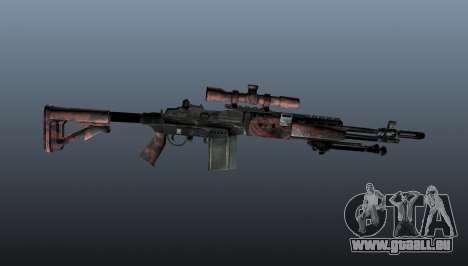 Fusil de sniper M21 Mk14 v5 pour GTA 4 troisième écran