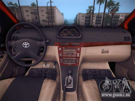Toyota Vios Modified Indonesia pour GTA San Andreas vue de dessus