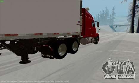 Volvo VNL 630 pour GTA San Andreas sur la vue arrière gauche