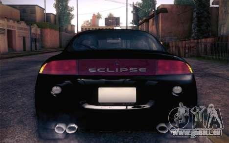 Mitsubishi Eclipse Fast and Furious für GTA San Andreas Rückansicht