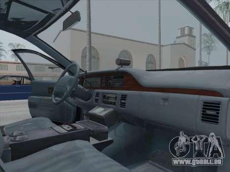 Chevrolet Caprice LAPD 1991 [V2] pour GTA San Andreas vue arrière