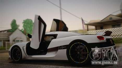 Koenigsegg Agera pour GTA San Andreas laissé vue