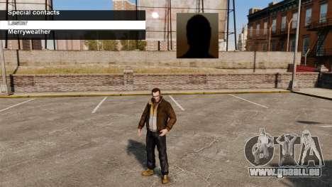 Services spéciaux Merryweather et Lester pour GTA 4 troisième écran