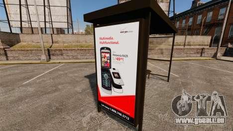 Neue Werbeplakate an den Bushaltestellen für GTA 4