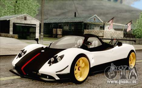 Pagani Zonda Cinque für GTA San Andreas zurück linke Ansicht