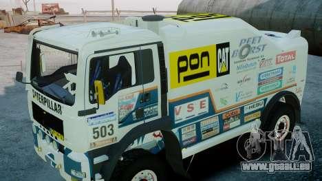 MAN TGA GINAF Dakar Race Truck für GTA 4 rechte Ansicht