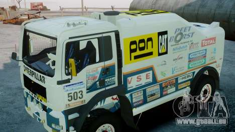 MAN TGA GINAF Dakar Race Truck pour GTA 4 est un droit