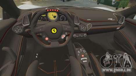 Ferrari 458 Italia 2009 für GTA 4 Seitenansicht