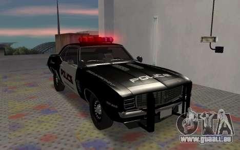 Chevrolet Camaro SS Police pour GTA San Andreas laissé vue