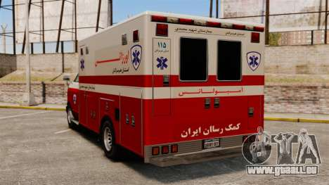 Iranische Krankenwagen für GTA 4 hinten links Ansicht