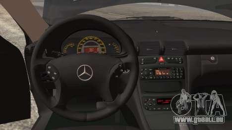 Mercedes-Benz C32 AMG 2004 für GTA San Andreas obere Ansicht