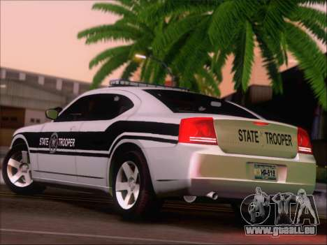 Dodge Charger San Andreas State Trooper für GTA San Andreas rechten Ansicht