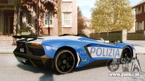 Lamborghini Aventador J Police pour GTA 4 est un droit