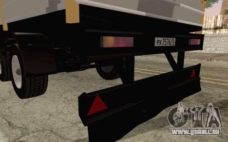 NefAZ von DB2 für GTA San Andreas zurück linke Ansicht