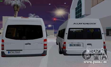 Ford Transit Jumgo für GTA San Andreas rechten Ansicht
