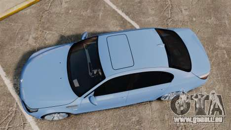 BMW M5 2009 pour GTA 4 est un droit