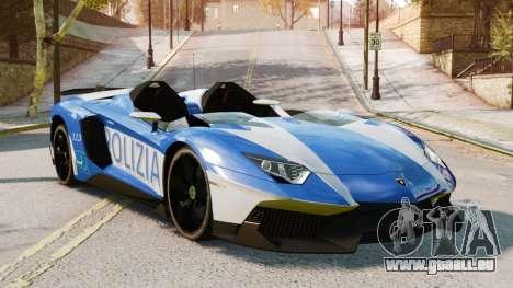 Lamborghini Aventador J Police pour GTA 4 Vue arrière de la gauche