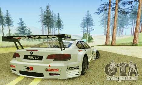 BMW M3 GT2 E92 ALMS pour GTA San Andreas vue de droite