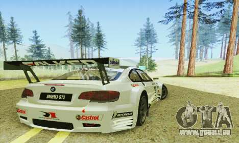 BMW M3 GT2 E92 ALMS für GTA San Andreas rechten Ansicht
