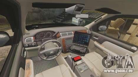Chevrolet Tahoe 2008 LCPD STL-K Force [ELS] pour GTA 4 Vue arrière