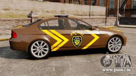 BMW 350i Indonesia Police v2 [ELS] pour GTA 4 est une gauche