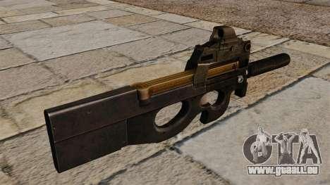 P90 mitraillette de nouveau pour GTA 4 secondes d'écran