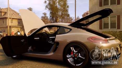 Porsche Cayman 981 S v2.0 für GTA 4 Unteransicht