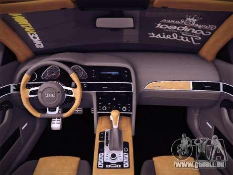 Audi Avant RS6 LowStance pour GTA San Andreas vue de dessus
