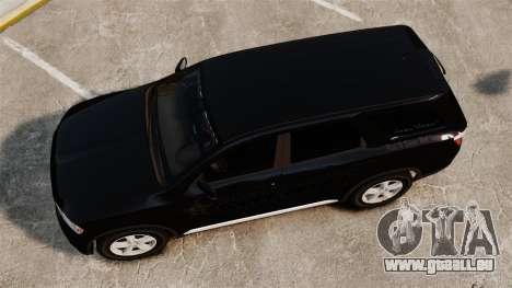 Dodge Durango 2013 Sheriff [ELS] für GTA 4 rechte Ansicht