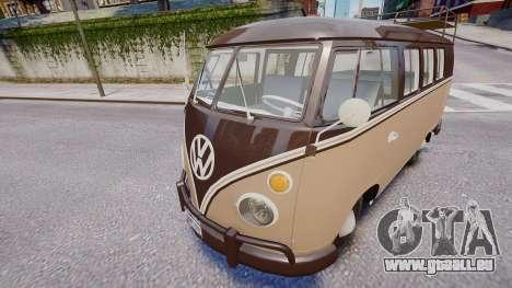 Volkswagen Transporter 1962 pour GTA 4 Vue arrière de la gauche