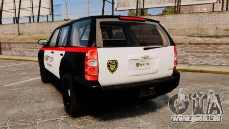 Chevrolet Tahoe 2008 LCPD STL-K Force [ELS] pour GTA 4 Vue arrière de la gauche
