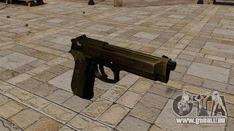 Halbautomatische Pistole Beretta 92 für GTA 4