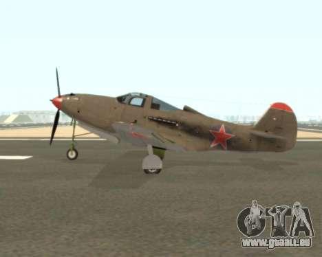 Aircobra P-39N pour GTA San Andreas laissé vue