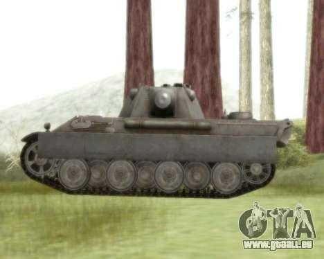 Pzkpfw V Panther II pour GTA San Andreas sur la vue arrière gauche