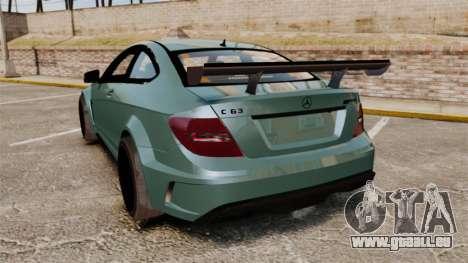 Mercedes-Benz C63 AMG für GTA 4 hinten links Ansicht