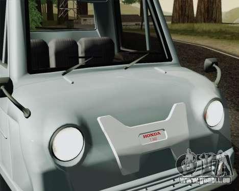 Honda T 360 pour GTA San Andreas sur la vue arrière gauche