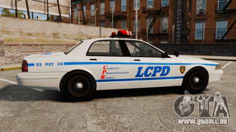 GTA V Police Vapid Cruiser LCPD für GTA 4 linke Ansicht