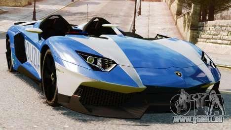 Lamborghini Aventador J Police für GTA 4