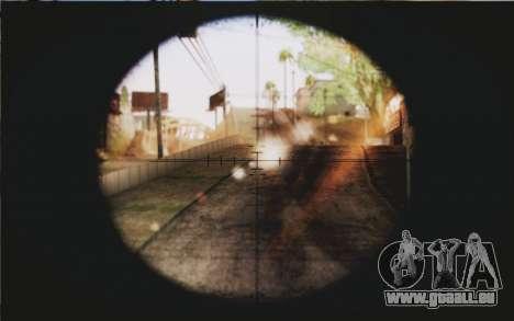Barrett M82 pour GTA San Andreas troisième écran