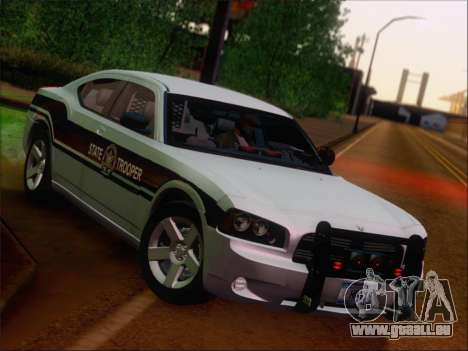 Dodge Charger San Andreas State Trooper für GTA San Andreas obere Ansicht