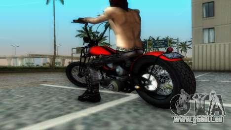 Harley Davidson Shovelhead für GTA Vice City Rückansicht
