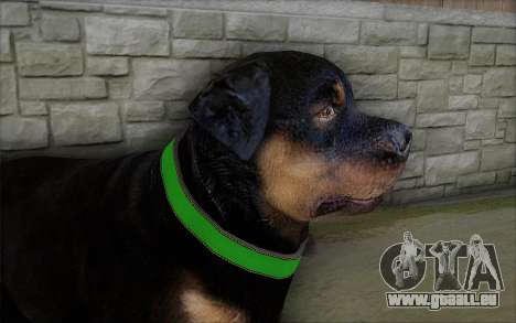 Rottweiler from GTA 5 pour GTA San Andreas troisième écran