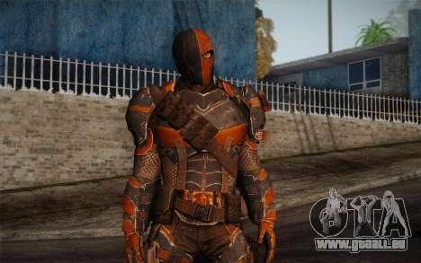 Deathstroke from Batman: Arkham Origins pour GTA San Andreas deuxième écran